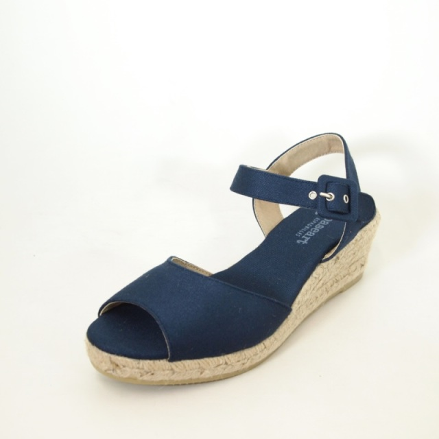 Paseart Navy Low Wedge Espadrille Spanish Shop Online