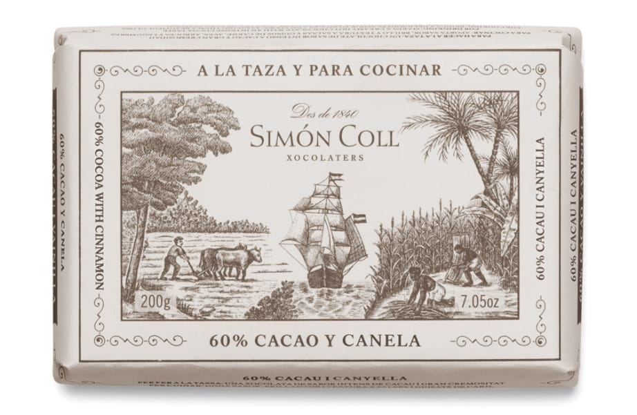 Simon Coll 60% Cocoa Chocolate with Cinnamon for drinking and cooking | spanishoponline.com
